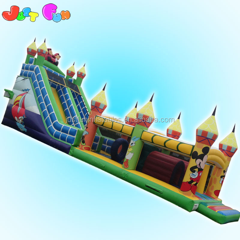 newly huge inflatable combo bouncy slide obstacles TWO Seperate Parts