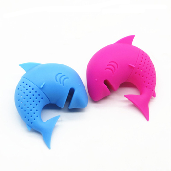 Lazy supplies Creative new villain tea filter Tea silicone shark tea maker