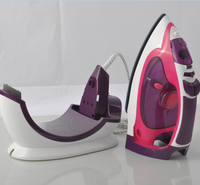 Self cleaning electric steam cordless iron