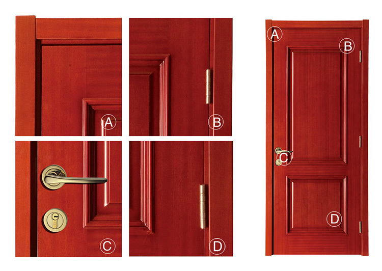 High quality bedroom panel plywood door design for home for Door design of plywood