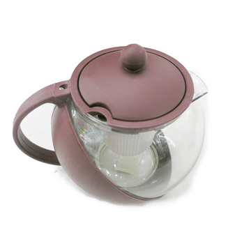 1250ML Glass Teapot Plastic Teapot