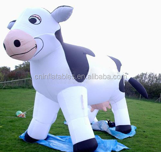 Advertising giant inflatable milk cow inflatable animals for sale