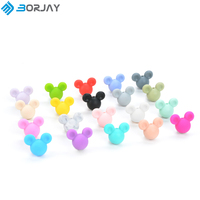 BPA Free Silicone Baby Teething Beads for Mickey Beads