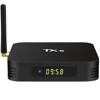 TANIX TX6 H6 4G 32G allwinner firmware android 9.0 tv tuner box with hd satellite receiver tv box android quad core