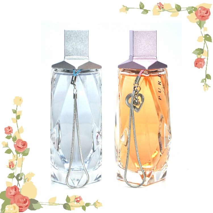 guangzhou cosmetic guangzhou perfume colorful and pure glass bottle perfume