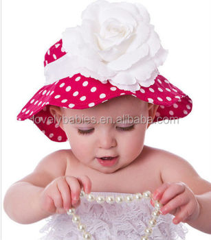 KID CUTE BABY GIRLS SUN POLKA DOT HEARTS COTTON SUMMER HAT CAP 3-24 MONTHS e9b2d01bab8