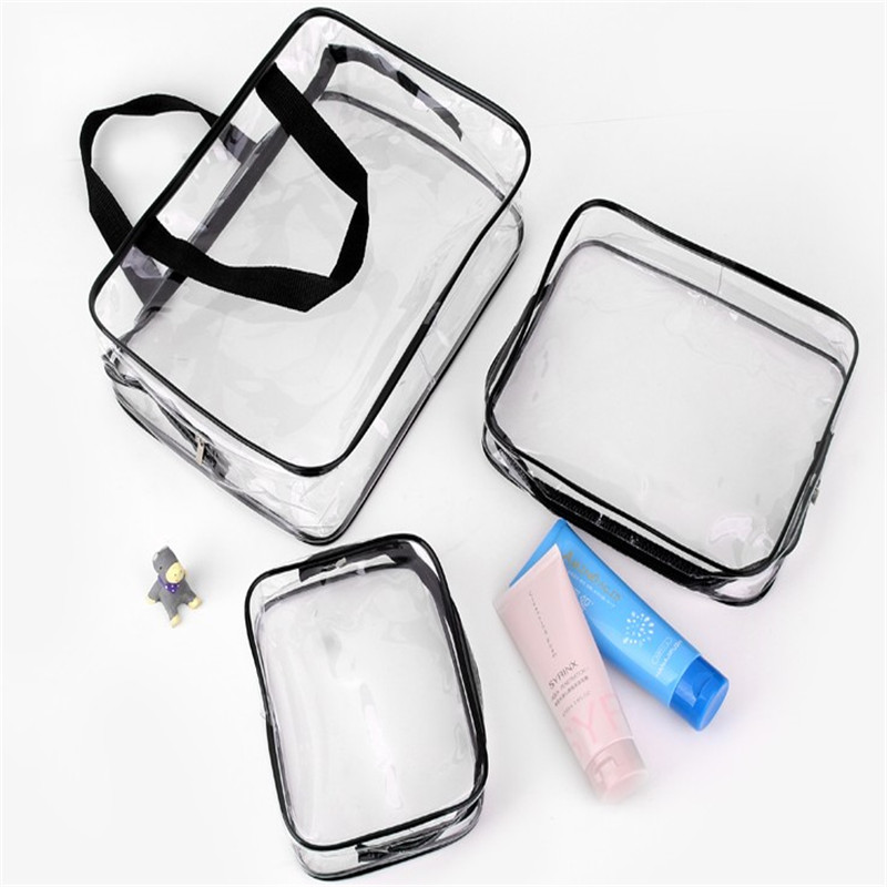 Oempromo personalized plastic transparent cosmetic makeup bag