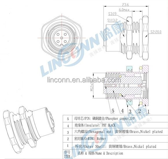 metal m8 m12 male female er type panel mount front mount metal m8 m12 male female er type panel mount front mount connector 12pin 3 pin 4