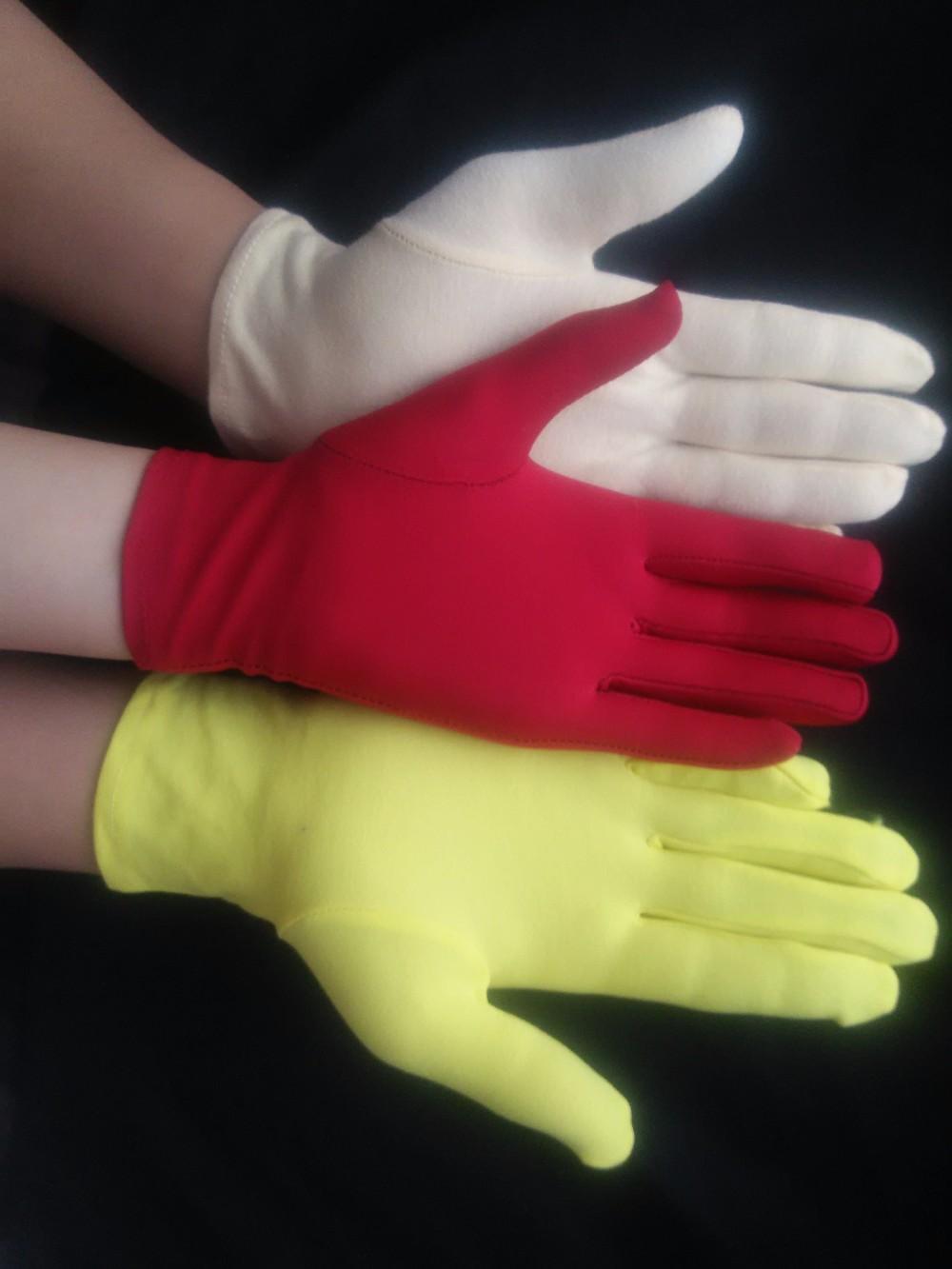 Long Wrist White Cotton Gloves USA Sizes M-XXL Marching Band,Military,Santa