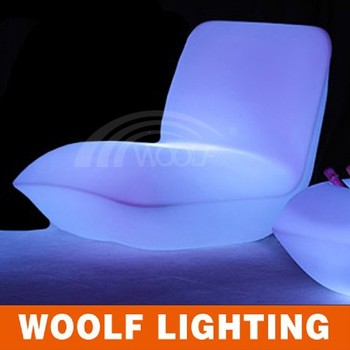 Led Lighting Plastic Sofa Outdoor Light Up