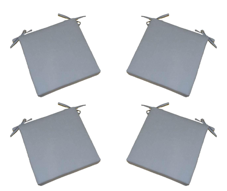 Exceptionnel Set Of 4   Indoor / Outdoor Solid Gray / Grey 17u201d X 17u201d