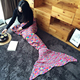 The New Colorful Spots Mermaid Blanket Tail Handmade Crocheted Blankets Super Soft Sleeping Bag All Seasons Soft Blanket