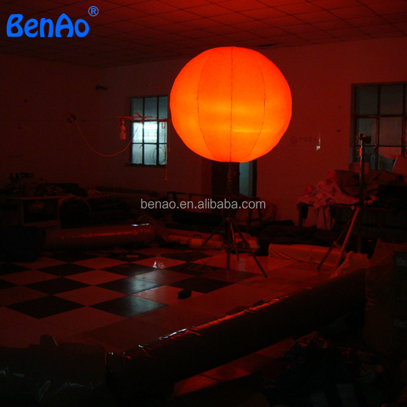 AO145 outdoor PVC inflatable pole light led decoration balloon,Inflatable halogen lighting,led lighting balloon with stand pole