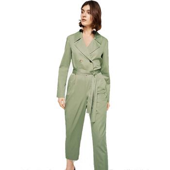 bc16128c7592 Jumpsuits Women 2018 Shirt Collar Long Sleeve Women Jumpsuit - Buy ...