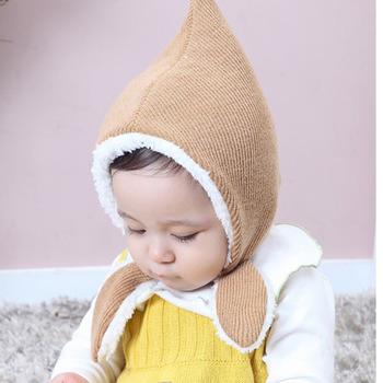 F-3417 korean version cute baby hats 2018 newborn fleece inside warm kids  winter hats 5c3e460bc88