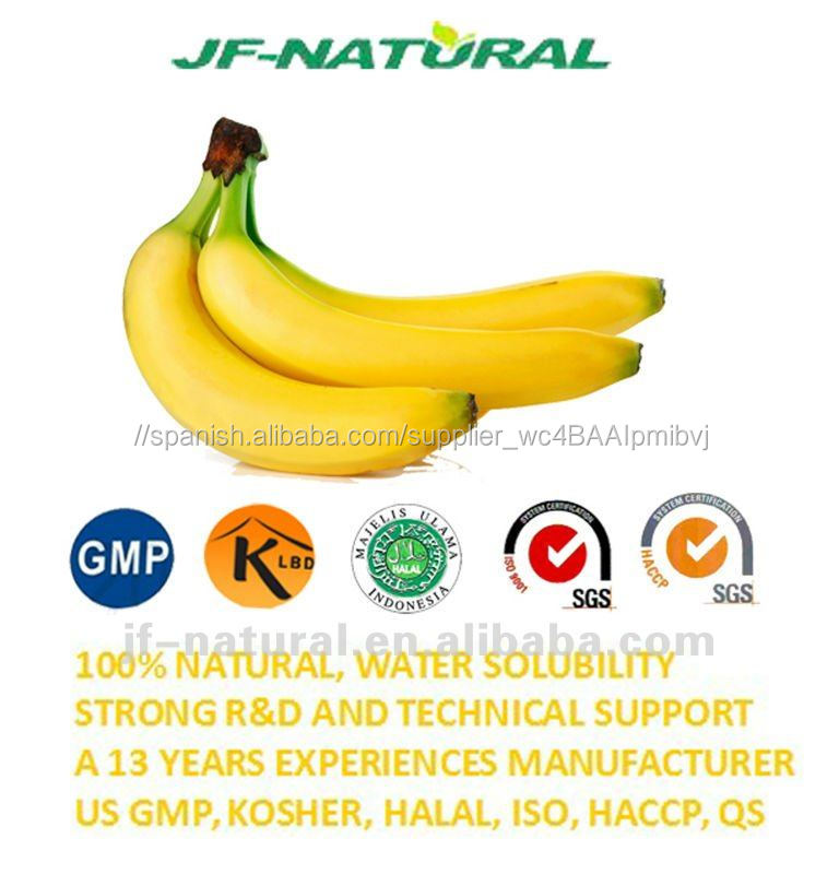 100% de la categoría alimenticia natural polvo De jugo de Banano ...