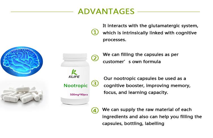 Factory Supply Nootropic Capsules Including Alpha Gpc