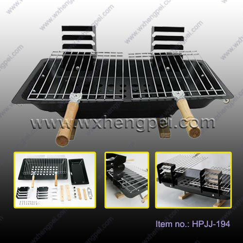 Portable Promotion Charcoal BBQ Grill / Height Adjustable Barbeque Grill For Lovers