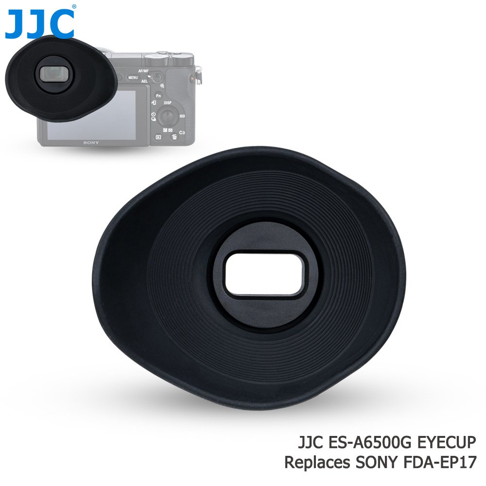JJC ES-A6500G Oval Shape Soft Silicone 360 Rotatable Ergonomic Camera Viewfinder Eyecup Eyepiece for Sony Alpha A6500, replaces Sony FDA-EP17 Eyecup