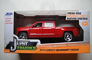 JADA JUST TRUCKS 1:32 SCALE RED 2014 CHEVY SILVERADO PICKUP
