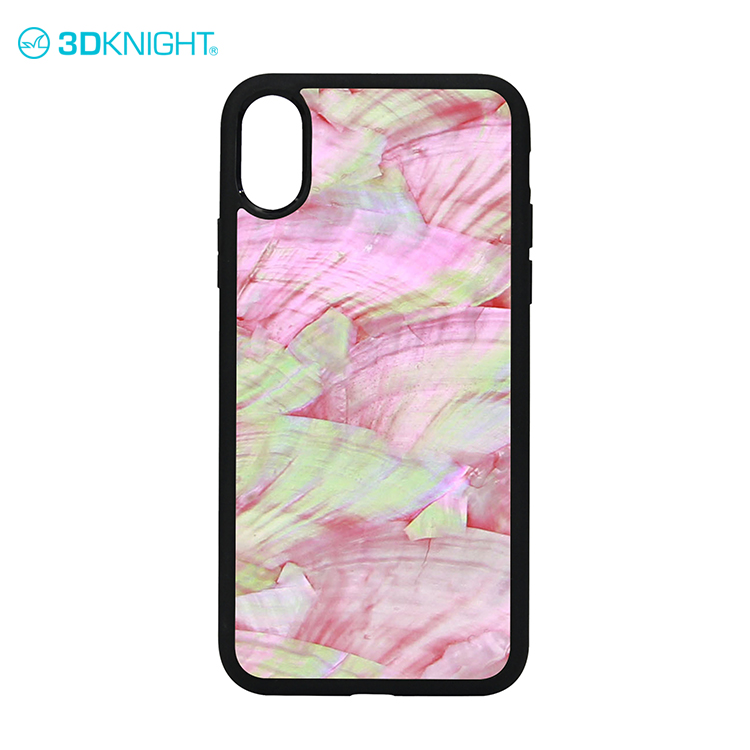 Pink seashell design cell phone case for iphone8 case cover