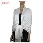 fashion plain white arab scarf hijab viscose pashmina shawl made in china pashmina
