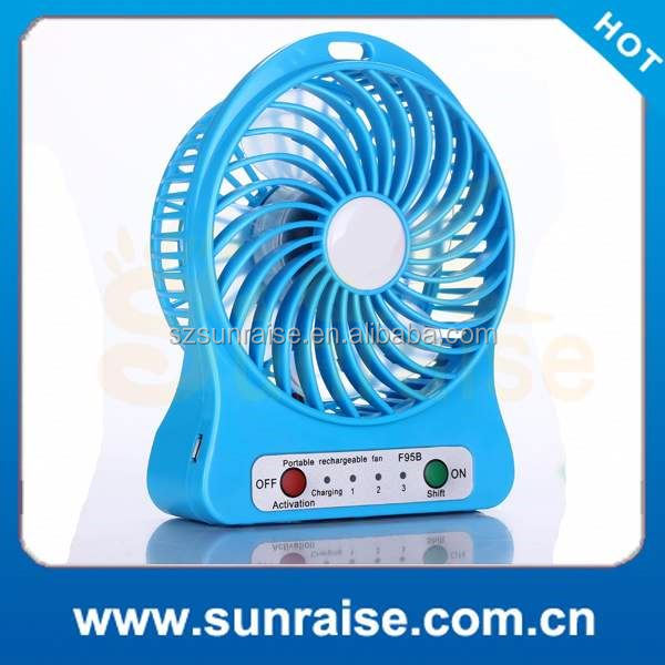 12 portable rechargeable fan with led light acdc Factory Wholesale