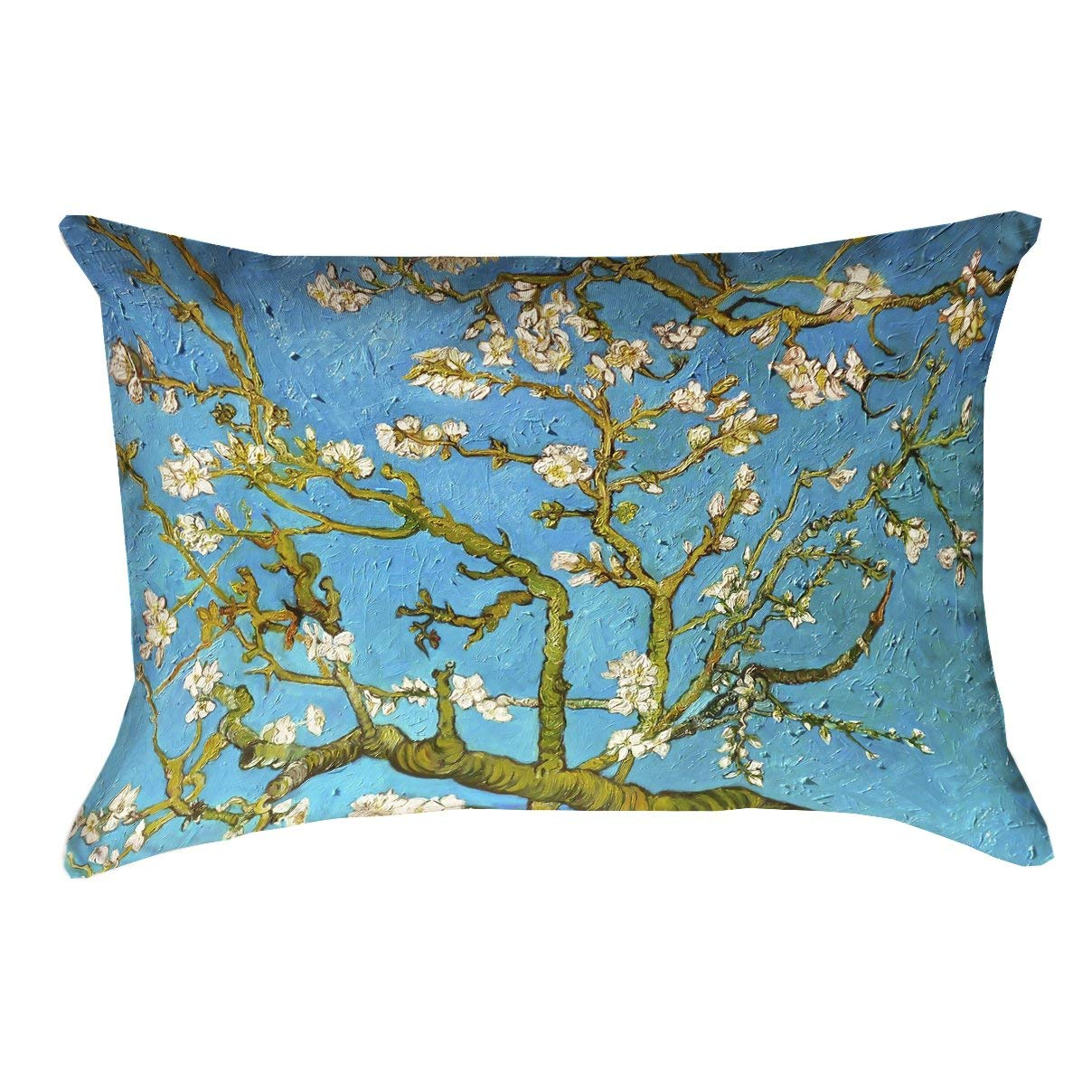 "ArtVerse Vincent Van Gogh 14"" x 20"" UV Properties-Waterproof and Mildew Proof Almond Blossom Indoor/Outdoor Pillow"