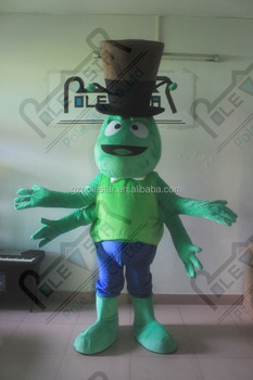 four arms inscet mascot costumes ant costumes green hexapod mascot design with gentle hat