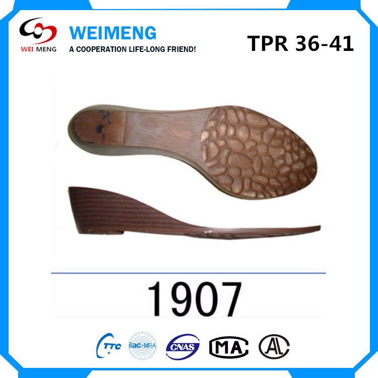 Lightweight Ladies Tpr Shoe Soles Outsole Design Wenzhou