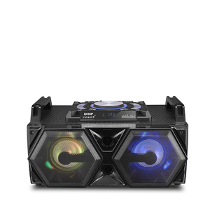 RMS 30W mini Wooden 5 inch Boombox subwoofer portable speakers with LED lights