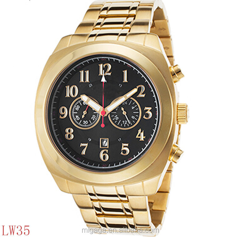 Ultimate Chrono Gold-Tone Stainless Steel Black Dial watch men luxury