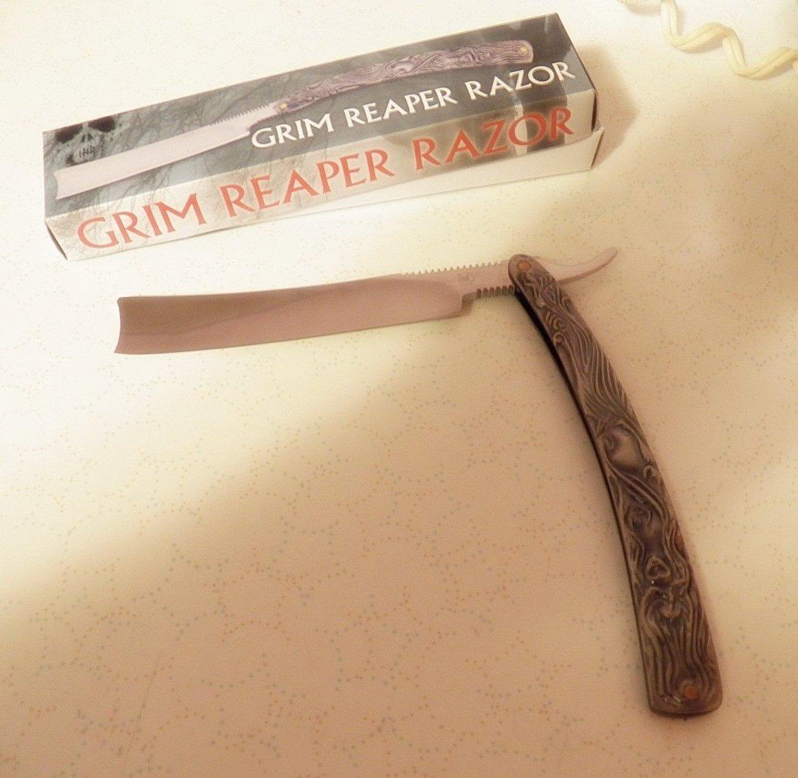 """GRIM REAPER RAZOR KNIFE--NICE RAZOR 6"""" BLADE--TOTAL LENGTH 12.25"""""""