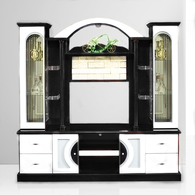 2016 china furniture city living room modern tv cabinet design with showcase buy tv cabinet - Glass showcase designs for living room ...