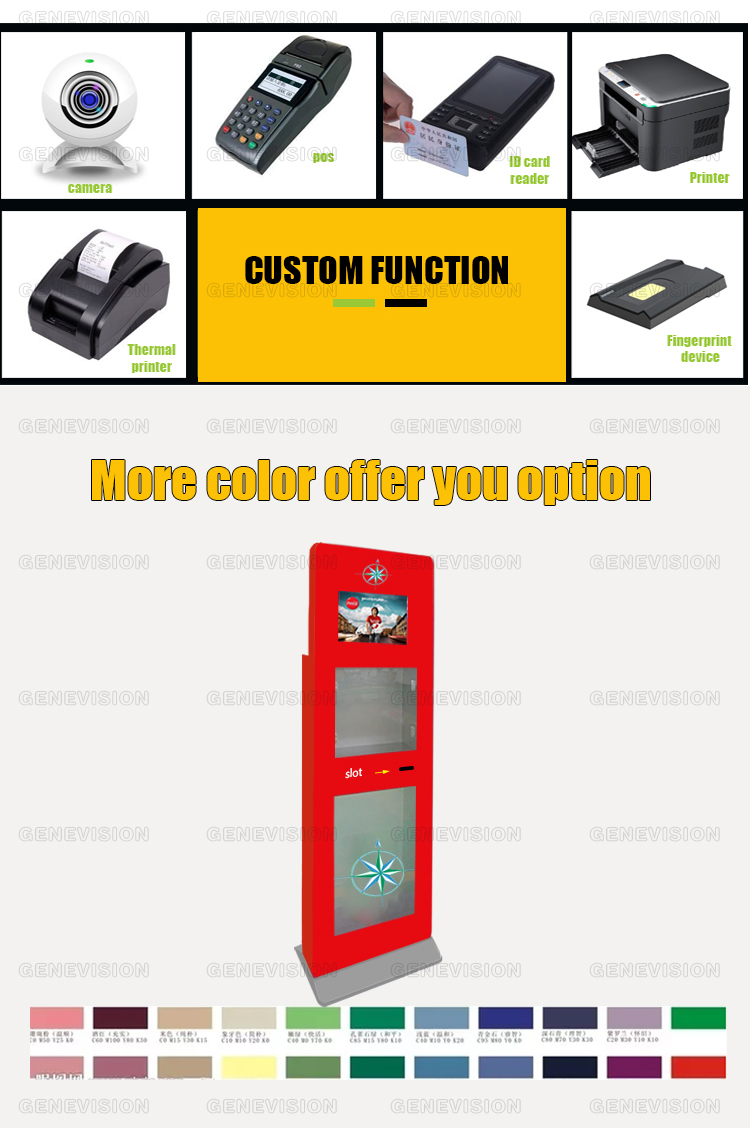 21.5lnch wholesale digital touch totem high brightness lcd advertising display for Red Cross Hospital