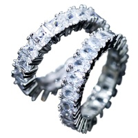 Fashion New Artificial Full Diamond Ring Zircon Party Birthday Jewelry Gift HS-CS-B152