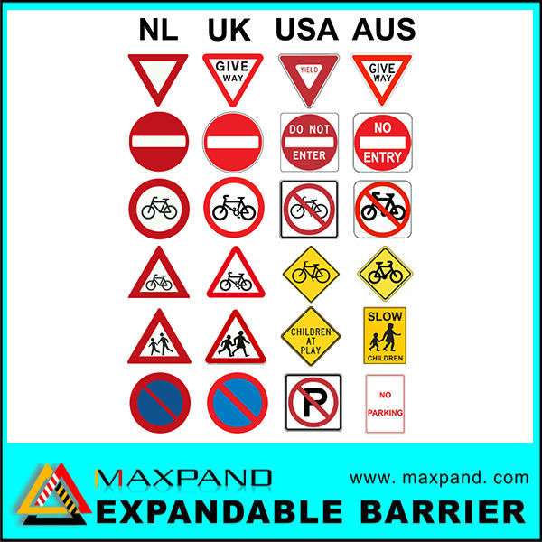 Traffic Symbols Metal Colorful Safety Signs Manufacturing