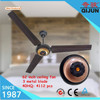 62 inch big air flow modern light weight ceiling fan in black/white color