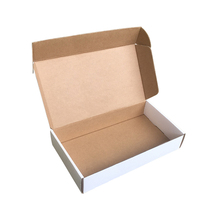 Professional factory <strong>supply</strong> ecolomic <strong>corrugated</strong> board plain white or brown die cut postal mailing <strong>boxes</strong>
