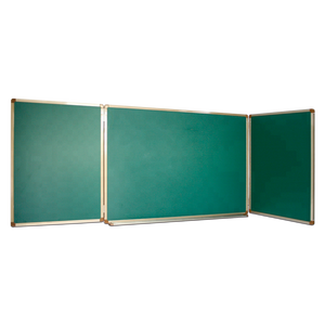 three parts folded blackboard magnetic dry erase folding whiteboard or greenboard