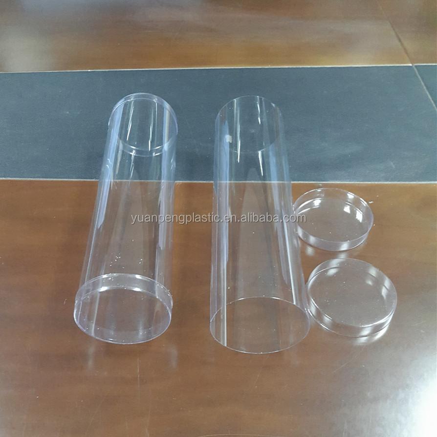 Tubi di plastica trasparente per la caramella con tappi for Tipi di tubi di plastica