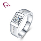Antique Filigree design Moissanite stone Accents 3 grams 18K white Gold Ring for man with Wholesale price