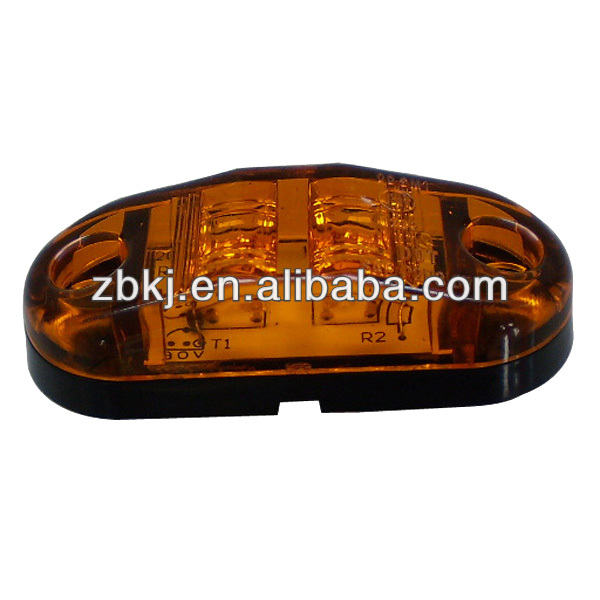 "HOT SALE AMBER 2.5"" OVAL LED SIDE MARKER LIGHTS, ENVIRONMENTAL GREEN PRODUCTS (20-3130)"