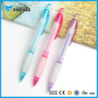 School supplies funny cheap promotional stick plastic pens with logo print