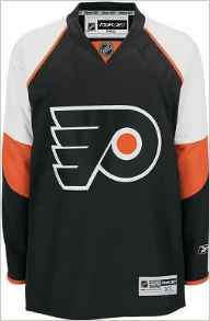 Get Quotations · Philadelphia Flyers NHL Youth Home Color Blank Replica  Jersey bb374f2aa