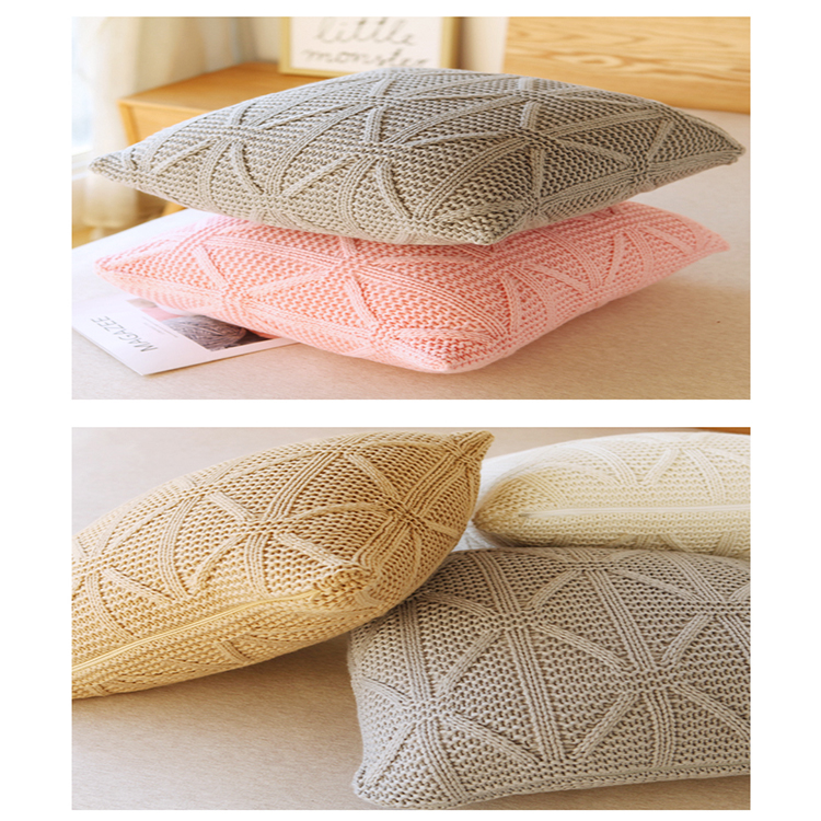 Ginzeal 2018 Hot Selling Cotton Knitted Cushion Cover