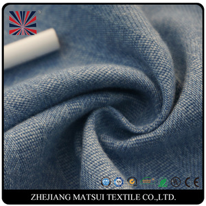 Fashion clothing cotton denim greige thick woven fabric for cloth