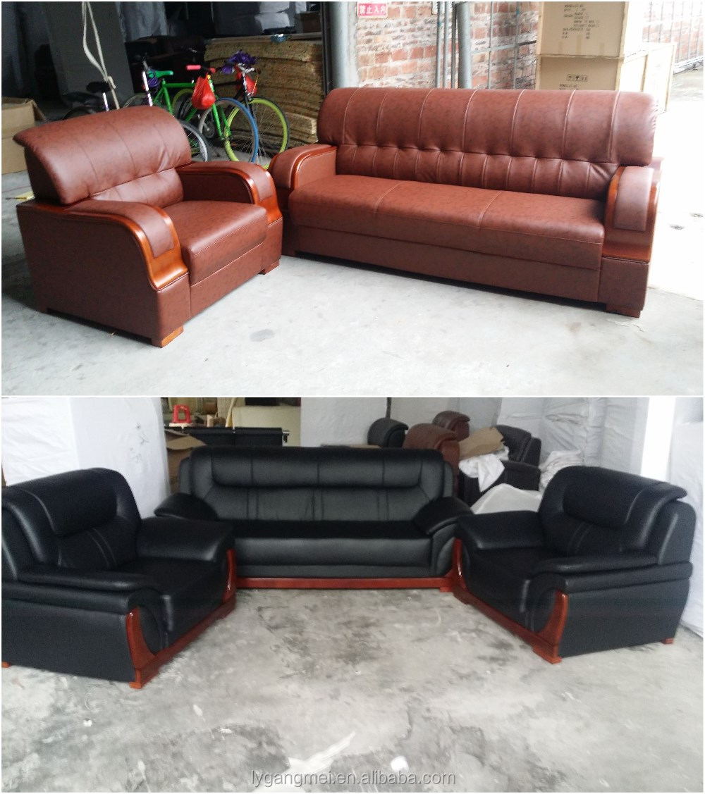 Modern office sectional pu leather 9 seater sofa set buy for 9 seater sofa set