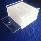 Wholesale diy hotel acrylic tissue box clear acrylic frosted tissue box holder