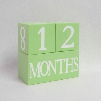Custom Painting Green Color Wooden Age Block Baby Block For Decoration Buy Green Color Wooden Age Blockcustom Desktop Perpetual Calendarcolor Wood